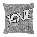 Love Square png Woven Throw Pillow