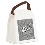 Love Square png Canvas Lunch Bag