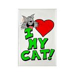 "I Love My ""Gray"" Cat Magnet"