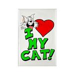 "I Love My ""White"" Cat Magnet"