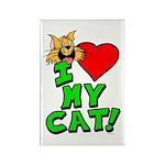 """I Love My """"Orange"""" Cat Magnet"""