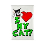 "I Love My ""Tuxedo"" Cat Magnet"