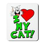 "I Love My ""White"" Cat Mousepad"