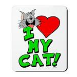 "I Love My ""Gray"" Cat Mousepad"