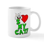 """I Love My """"White"""" Cat Mug"""