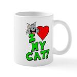 "I Love My ""Gray"" Cat Mug"