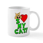 """I Love My """"Orange"""" Cat Mug"""