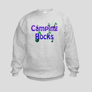 Camping Rocks Blue Sweatshirt