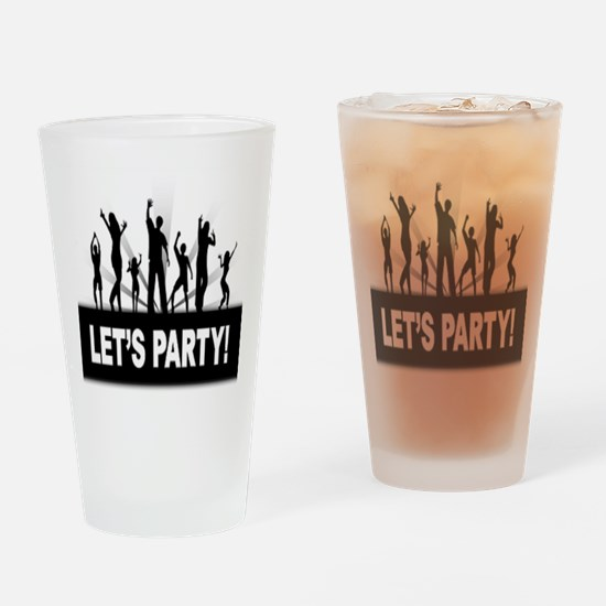 LETS PARTY Drinking Glass