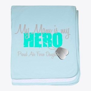 Mom is my Hero baby blanket