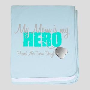 Mom is my Hero baby blanket