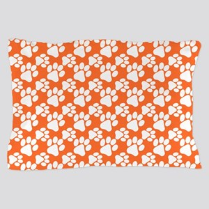 Dog Paws Clemson Orange-Small Pillow Case