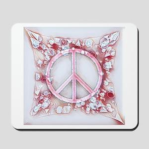 Peace Pink Mousepad