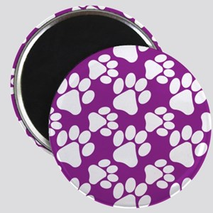 Dog Paws Purple Magnet