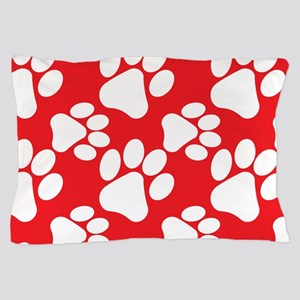 Dog Paws Red-Small Pillow Case