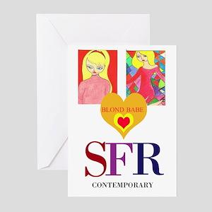 Blonde Babe SFR Greeting Cards (Pk of 10)