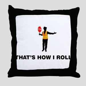 Crossing Guard Throw Pillow