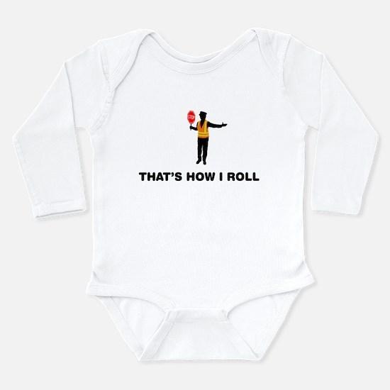 Crossing Guard Long Sleeve Infant Bodysuit