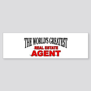 """""""The World's Greatest Real Estate Agent"""" Sticker ("""