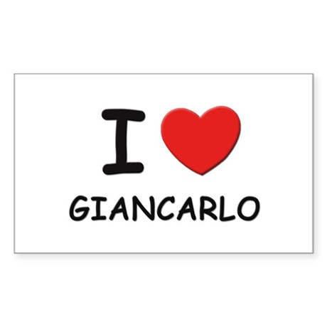 I love Giancarlo Rectangle Sticker