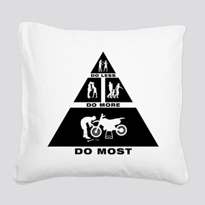 Dirt Bike Mechanic Square Canvas Pillow