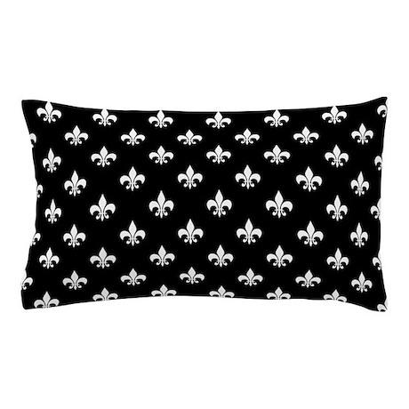 Black And White Fleur De Lis Pillow Case By Hhtrendyhome