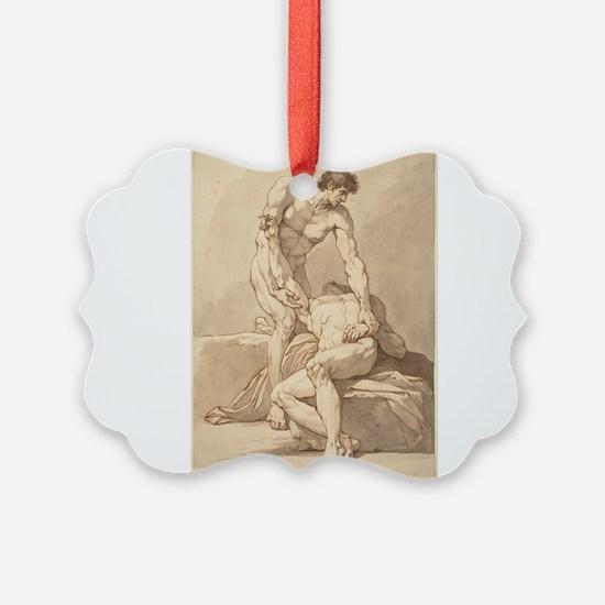 Johann Heinrich Lips - Two Naked Men Ornament