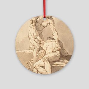 Johann Heinrich Lips - Two Naked Men Ornament (Rou