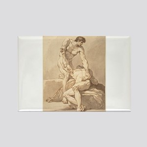 Johann Heinrich Lips - Two Naked Men Rectangle Mag