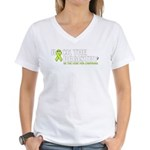 Women's Be the Cure for Lymphoma V-Neck T-Shirt