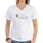 Women's Be The Cure for Leukemia V-Neck T-Shirt