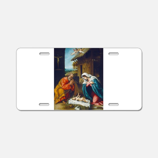 Lorenzo Lotto - The Nativity Aluminum License Plat
