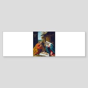 Lorenzo Lotto - The Nativity Bumper Sticker