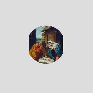 Lorenzo Lotto - The Nativity Mini Button