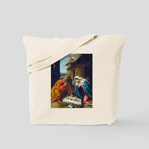 Lorenzo Lotto - The Nativity Tote Bag