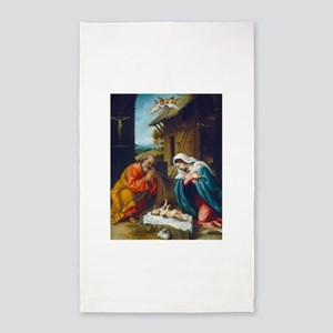 Lorenzo Lotto - The Nativity 3'x5' Area Rug