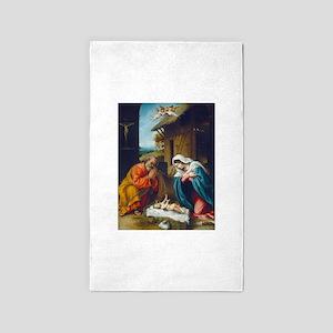 Lorenzo Lotto - The Nativity 3'x5' Area Rug