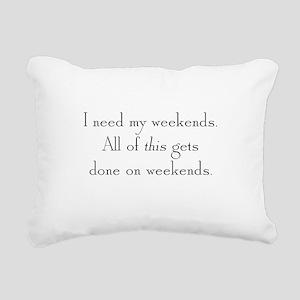 Weekends Rectangular Canvas Pillow