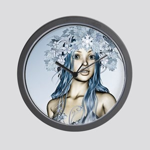 Snow Maiden Wall Clock
