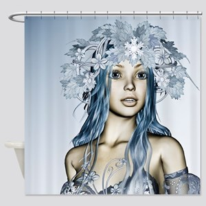Snow Maiden Shower Curtain