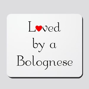 Loved by a Bolognese Mousepad