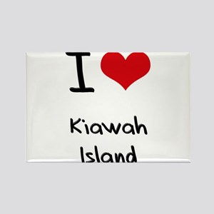 I Love KIAWAH ISLAND Rectangle Magnet