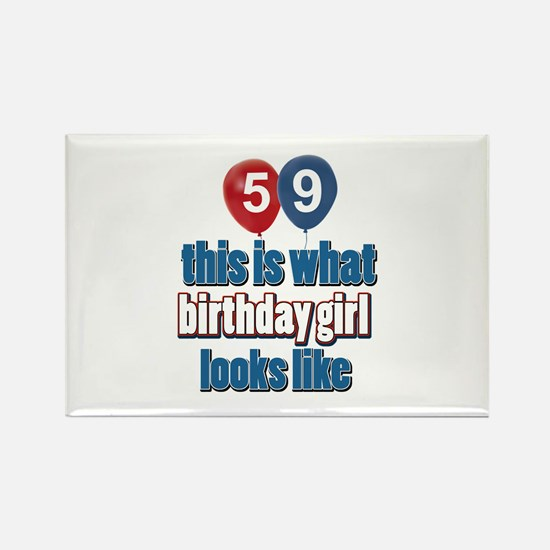 59 year old birthday girl Rectangle Magnet