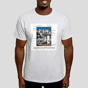 Lighthouses of Puerto Rico Light T-Shirt