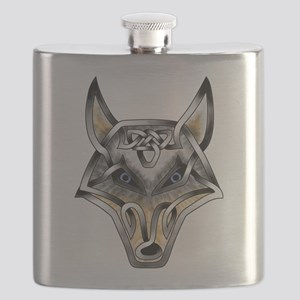 Wolf Face Flask