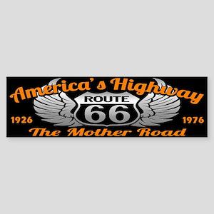 America's Highway 66 Sticker (Bumper)