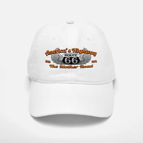 America's Highway 66 Baseball Baseball Cap