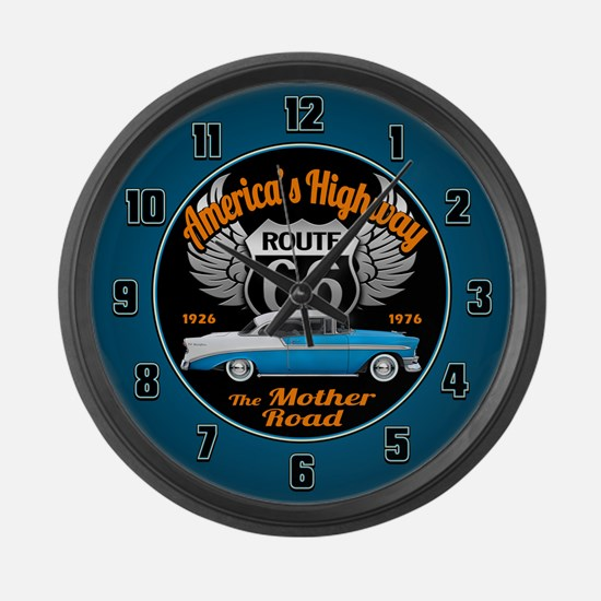 America's Highway 66 Large Wall Clock