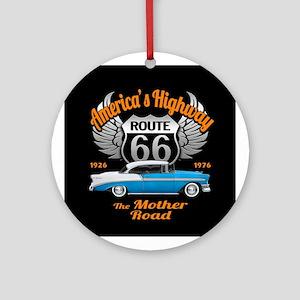 America's Highway 66 Ornament (Round)