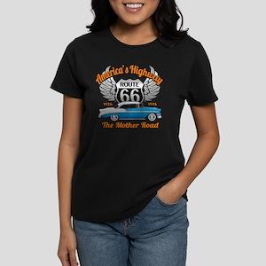 America's Highway 66 Women's Dark T-Shirt